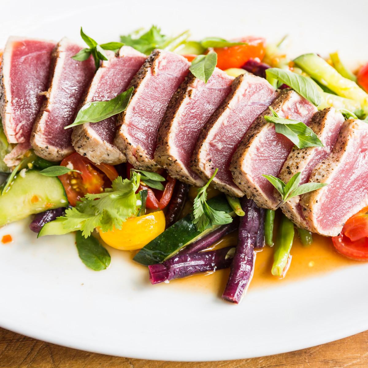 Underbelly seared tuna