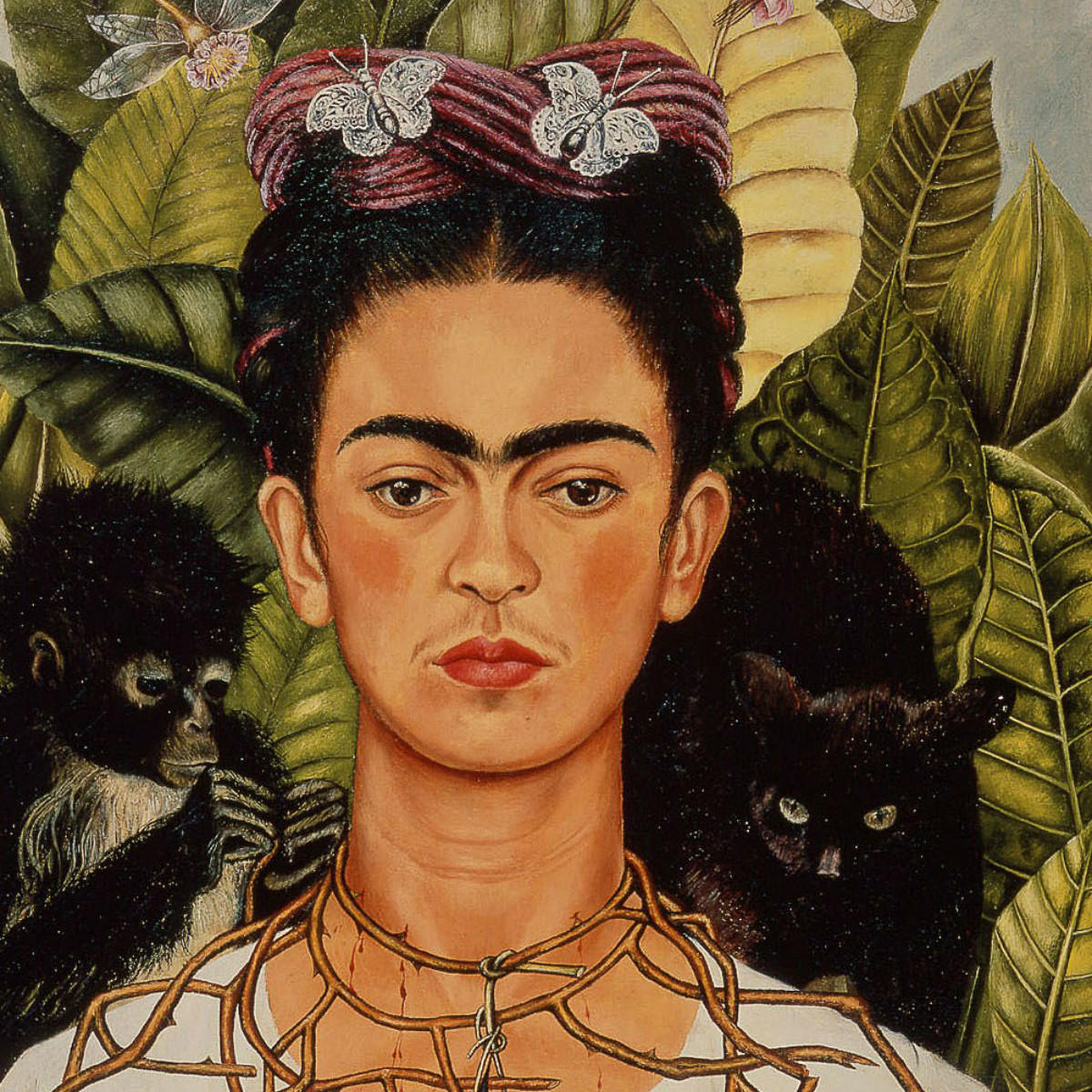 News_Frida_Kahlo_Self_Portrait_with_thorn necklace_hummingbirds