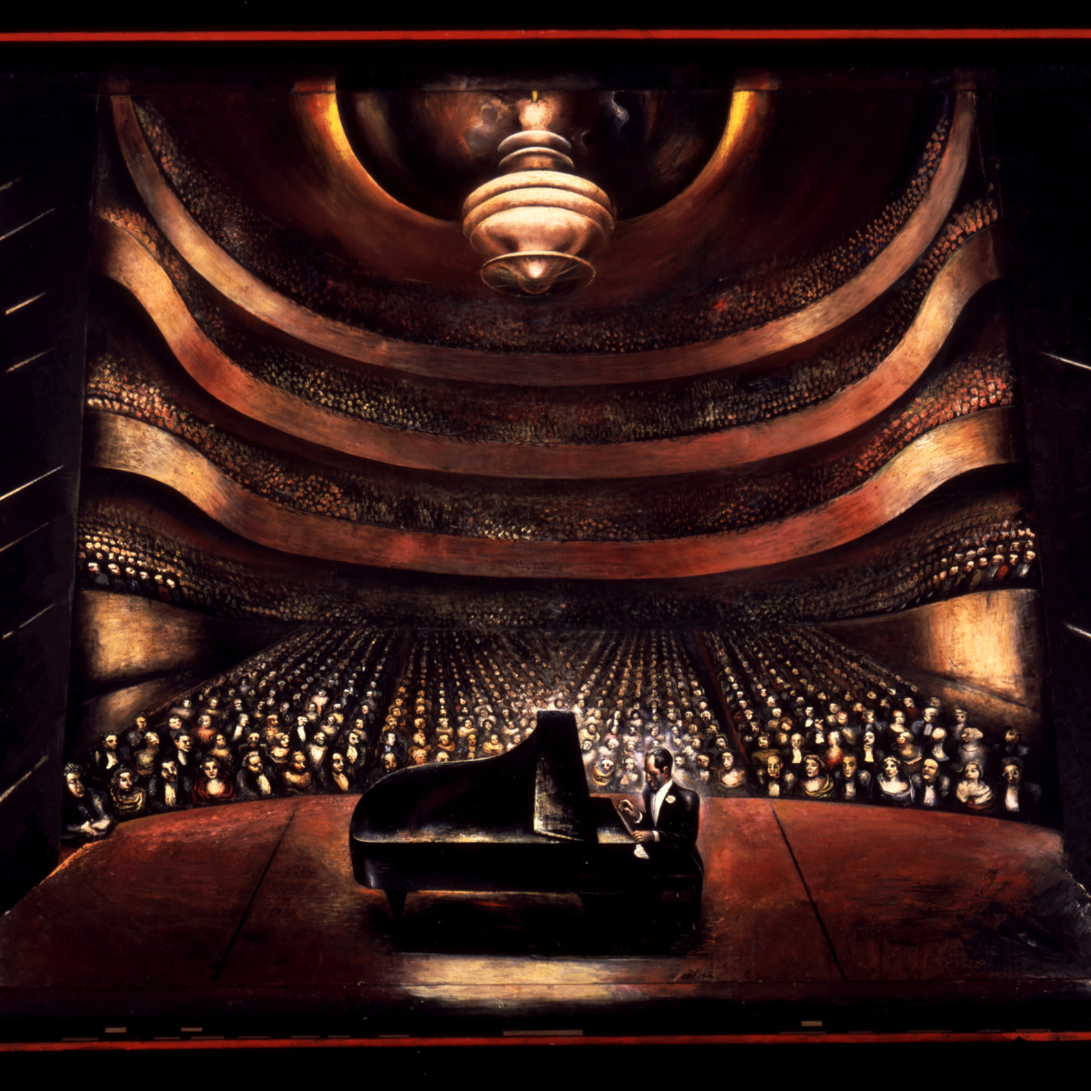 Paint the Revolution: Mexican Modernism, 1910–1950:David Alfaro Siqueiros, George Gershwin in a Concert Hall, 1936
