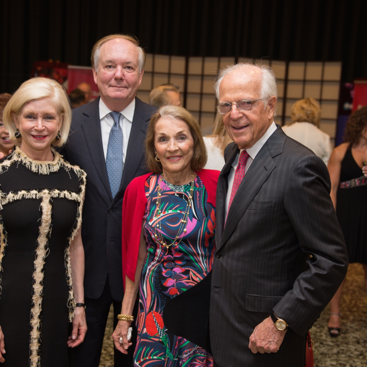 Ann and John Bookout; Mickie and Ron Huebsch at MFAH Mexican Modernism dinner