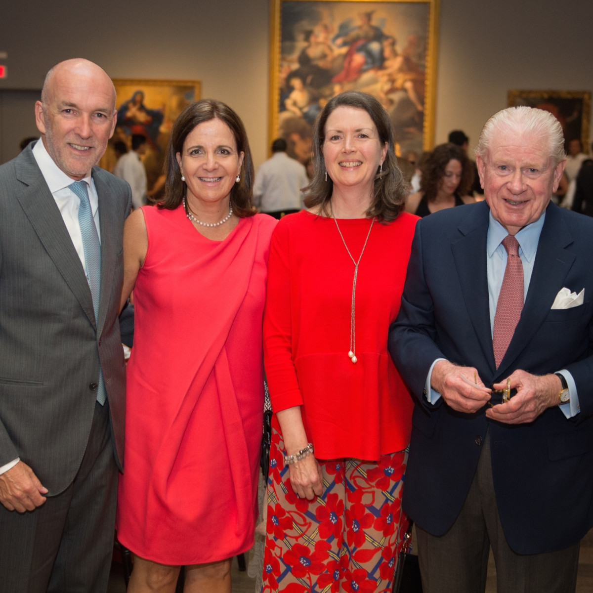 Ignacio and Isabel Torras; Joanna and Rusty Wortham at MFAH Mexican Modernism dinner