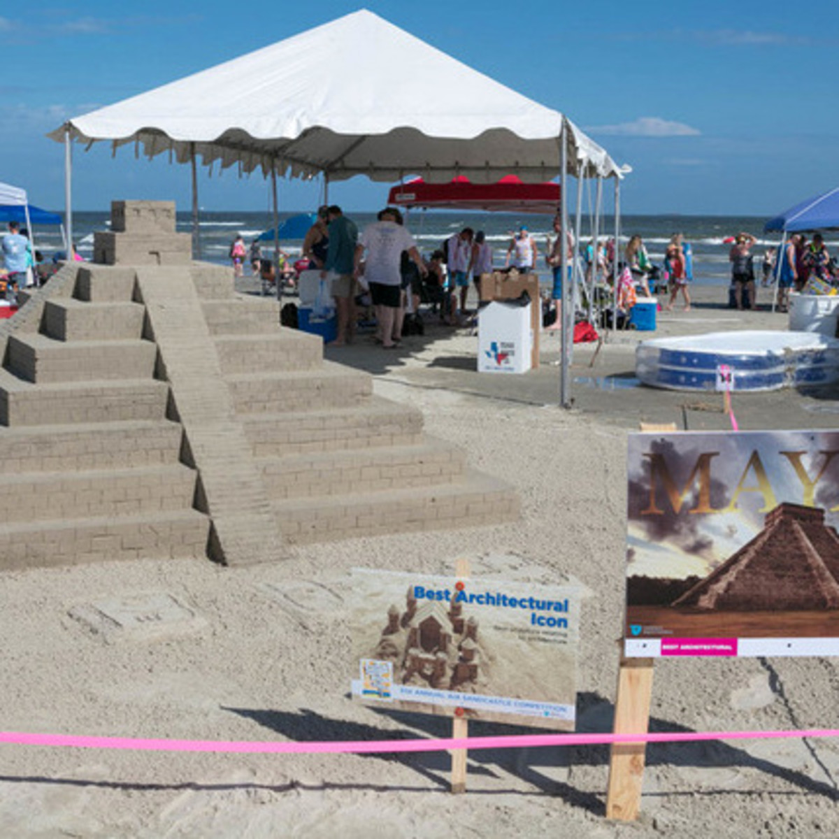 Houston, Houzz series, June 2017, Sandcastle contest, Mayan Pyramid