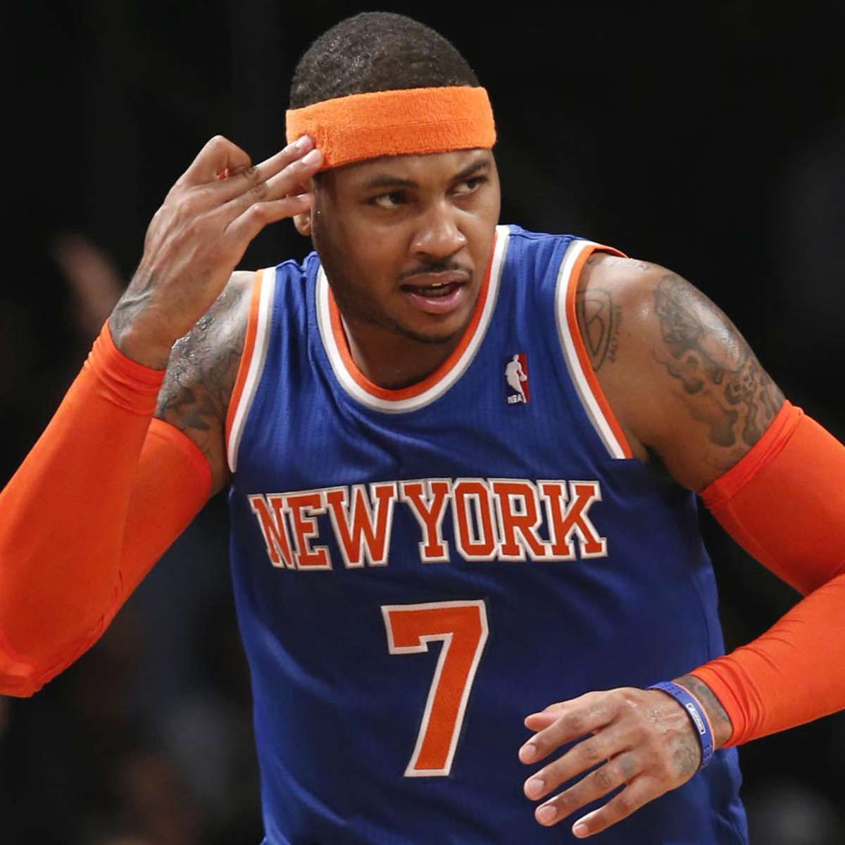 Carmelo Anthony think