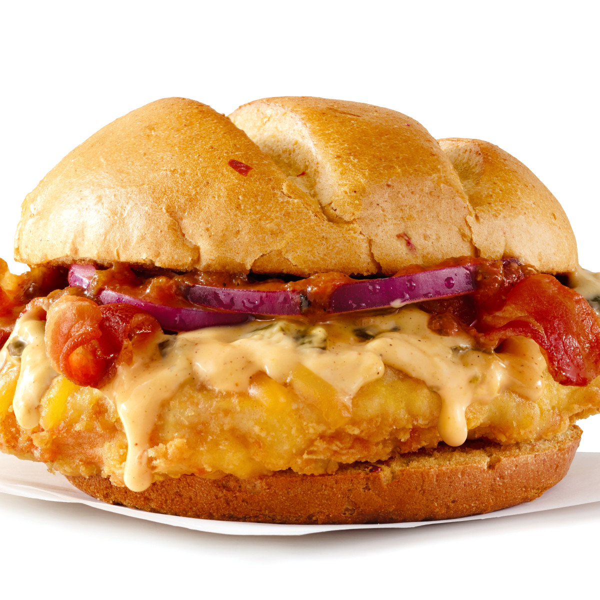 Houston, Wendy's Bacon Queso Burger, July 2017, Bacon Queso Chicken Sandwich