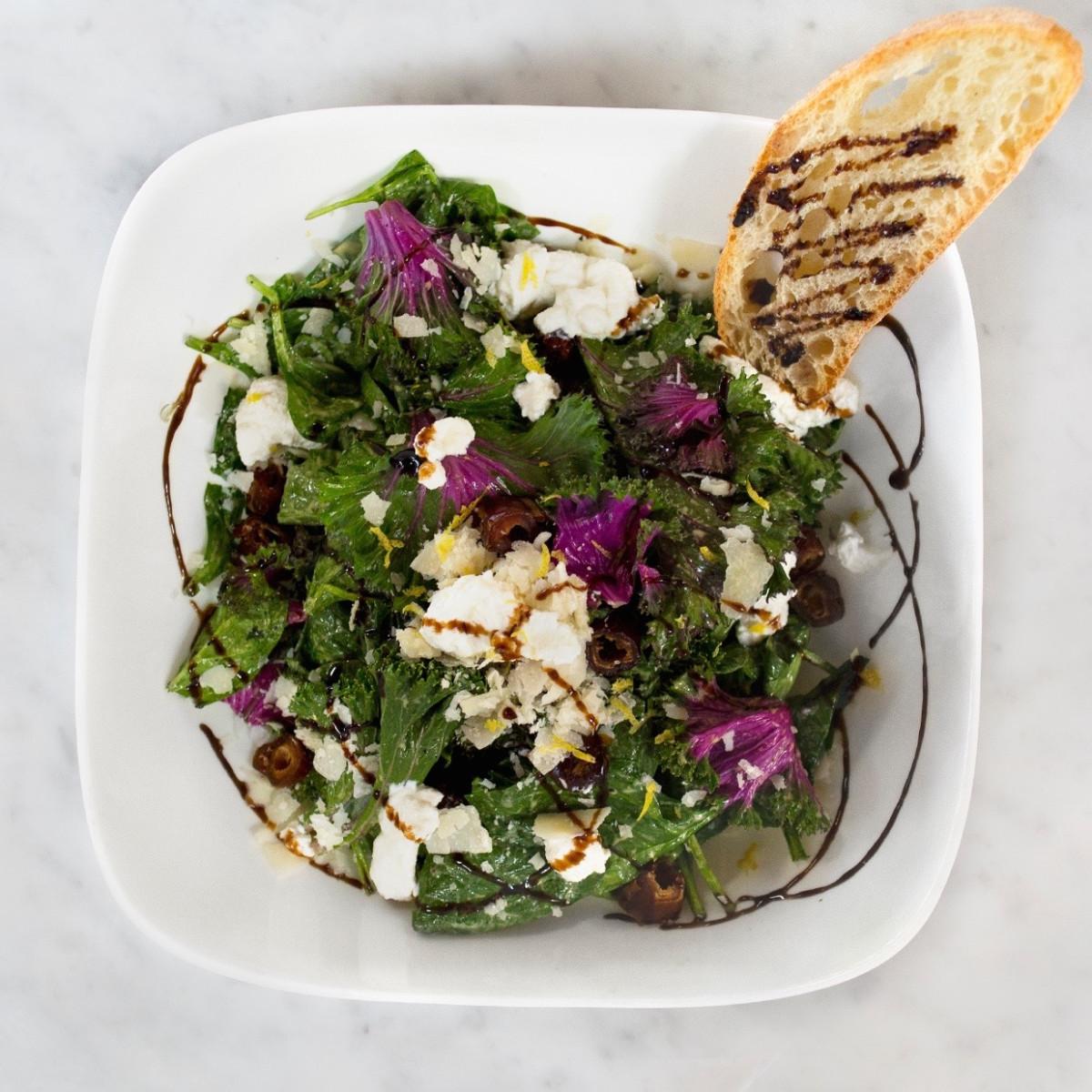 MidiCi purple kale salad