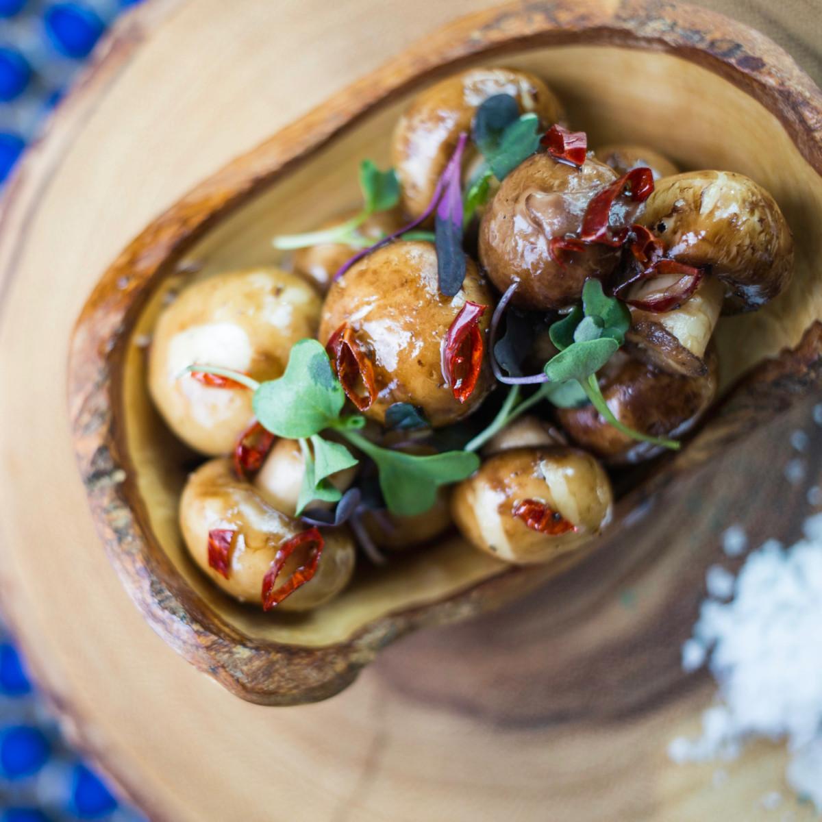 A'Bouzy truffled mushrooms