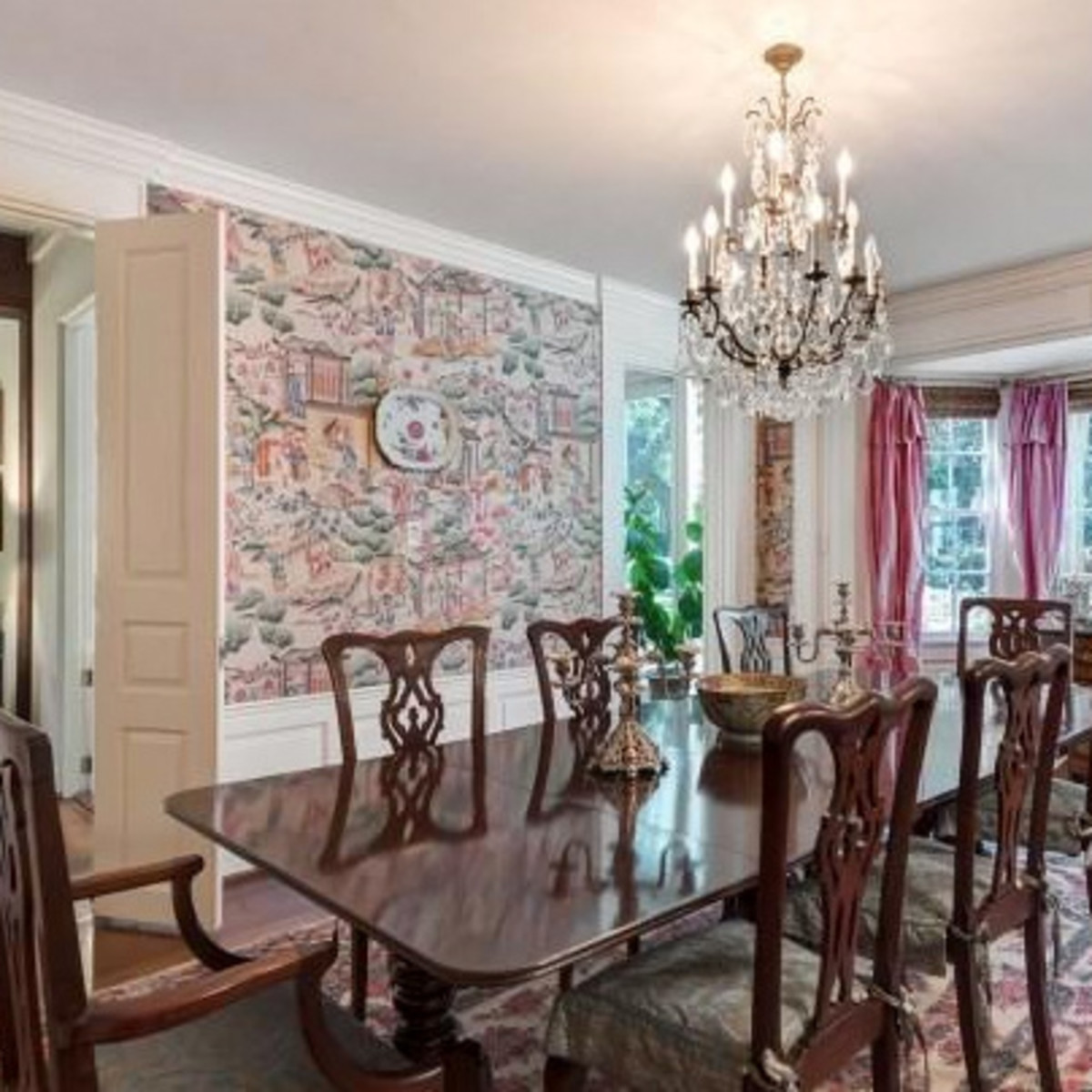 Houston, real estate, August 2017, George R. Brown's River Oaks Mansion, 3363 Inwood Dr, dining room