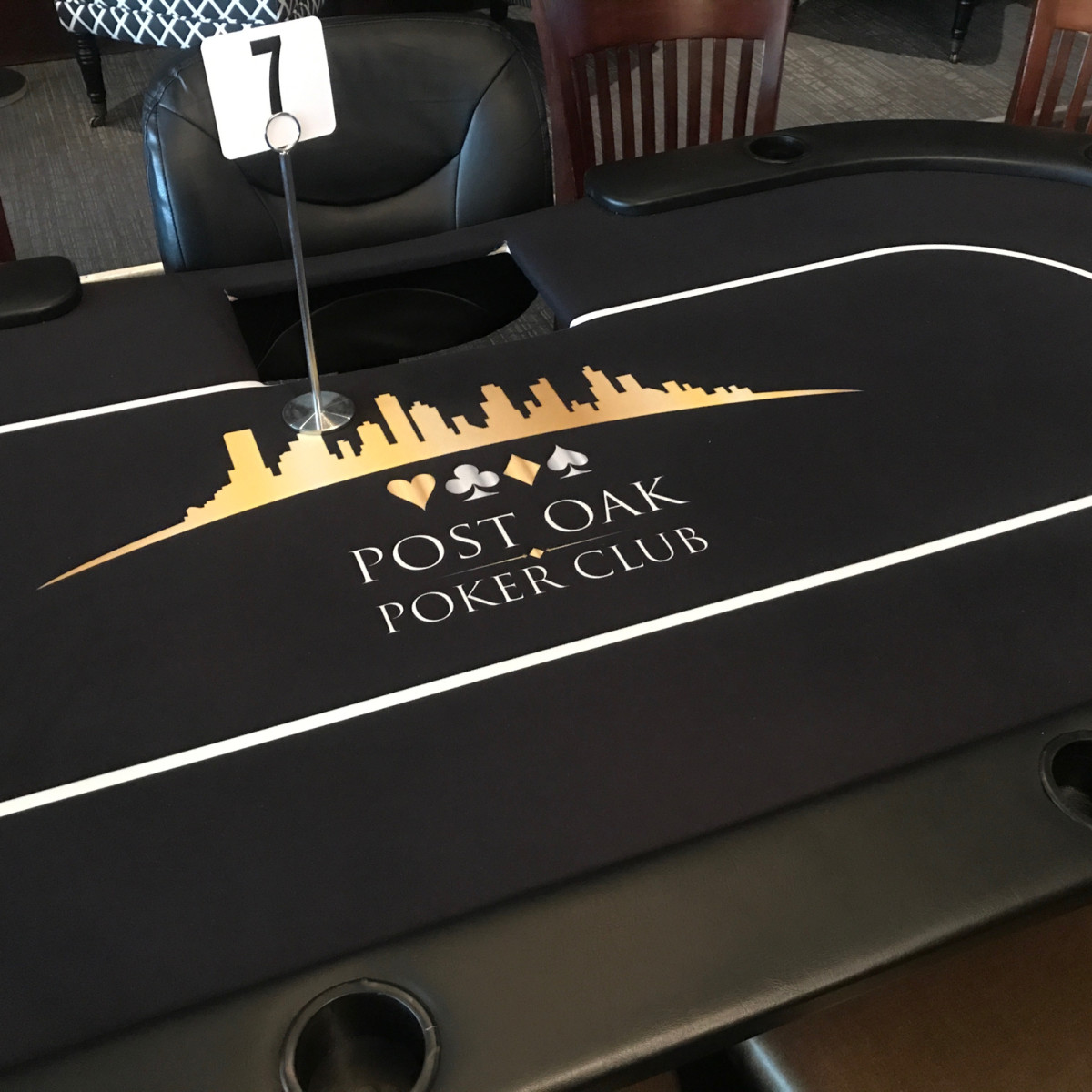 Post Oak Poker Room table