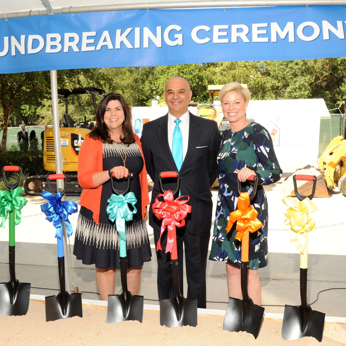 Houston, Ronald McDonald House groundbreaking, September 2017, Lesha Elsenbrook, Rick Noriega, Representative Sarah Davis