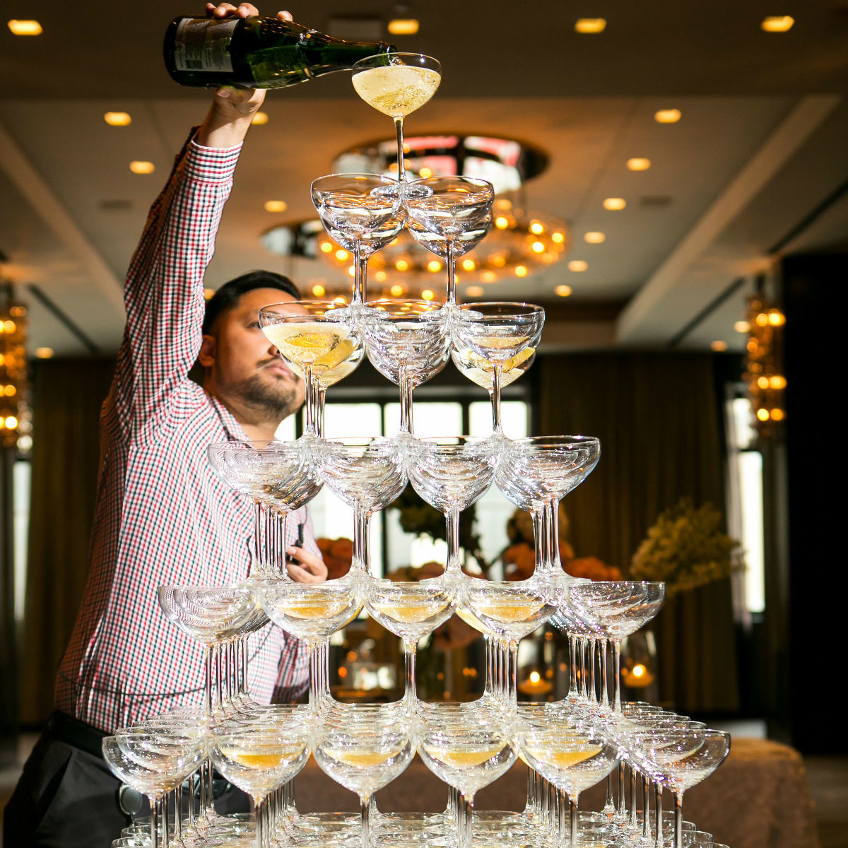Aronson Wedding Champagne Tower