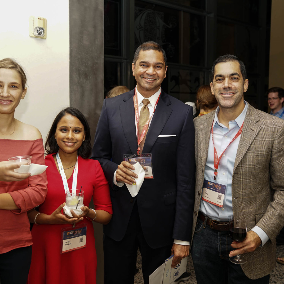 Texas Tribune Festival 2017 VIP Party at Harry Ranson Center Anya Bidwell Kavitha Bondada Vikrant Reddy Arif Panju