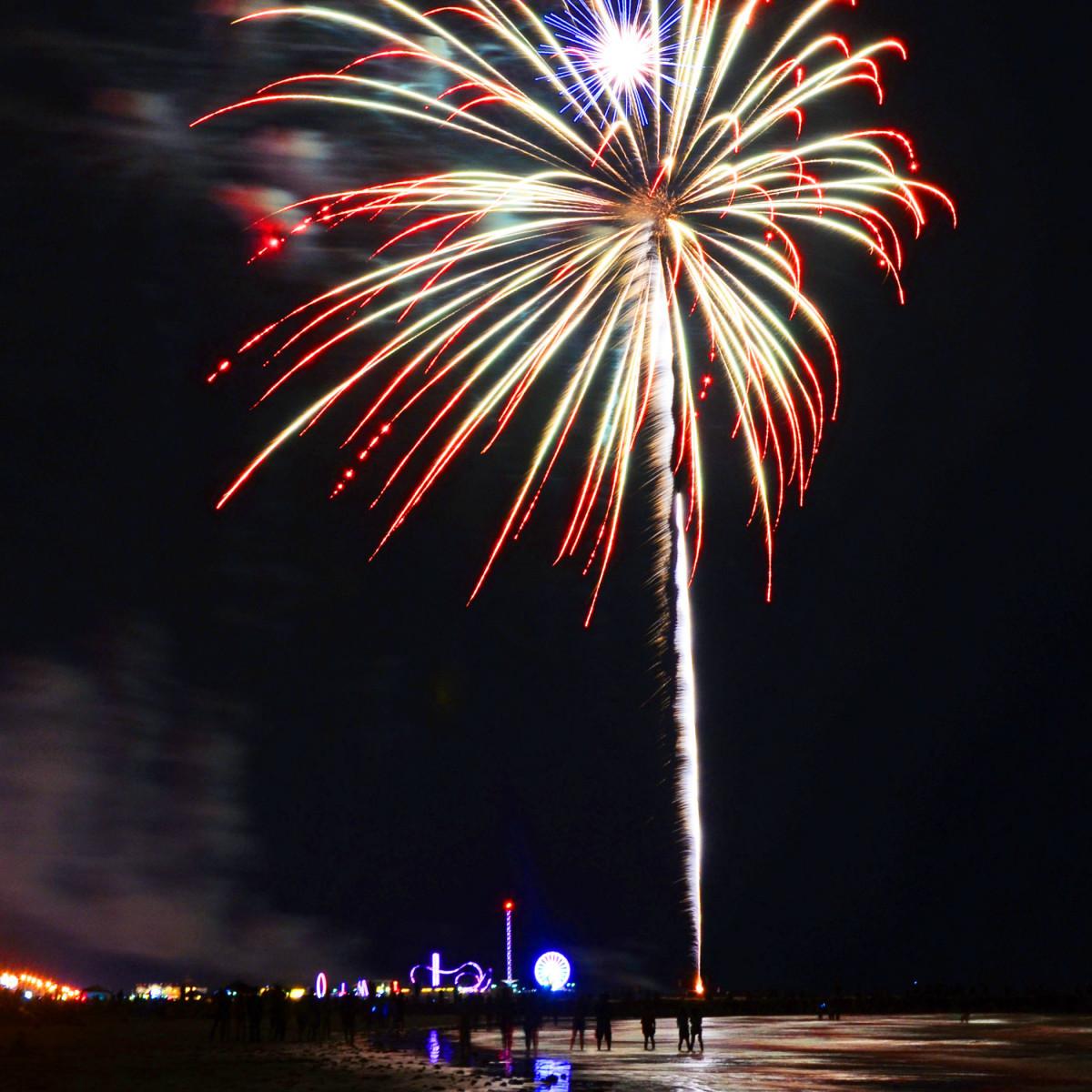 Fireworks over Galveston