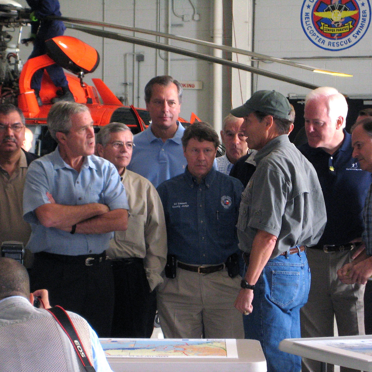 Houston news, Ed Emmett, George Bush after Hurricane Ike in 2008