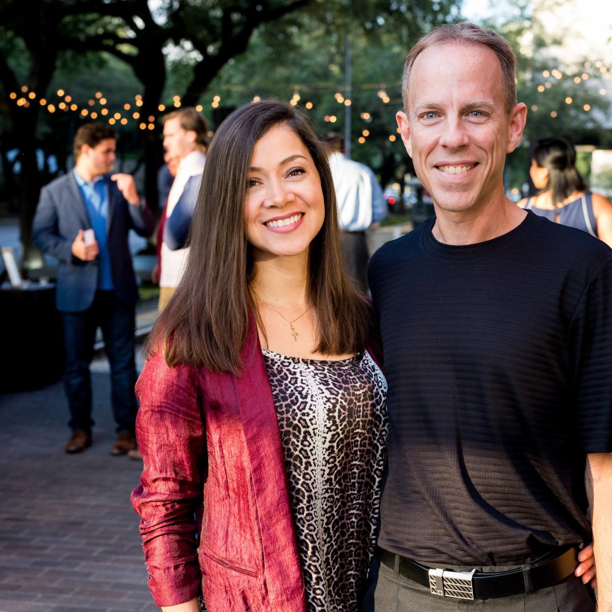 Houston, SportsMap launch party, October 2017, Anna Navaro, Charlie Pallilo