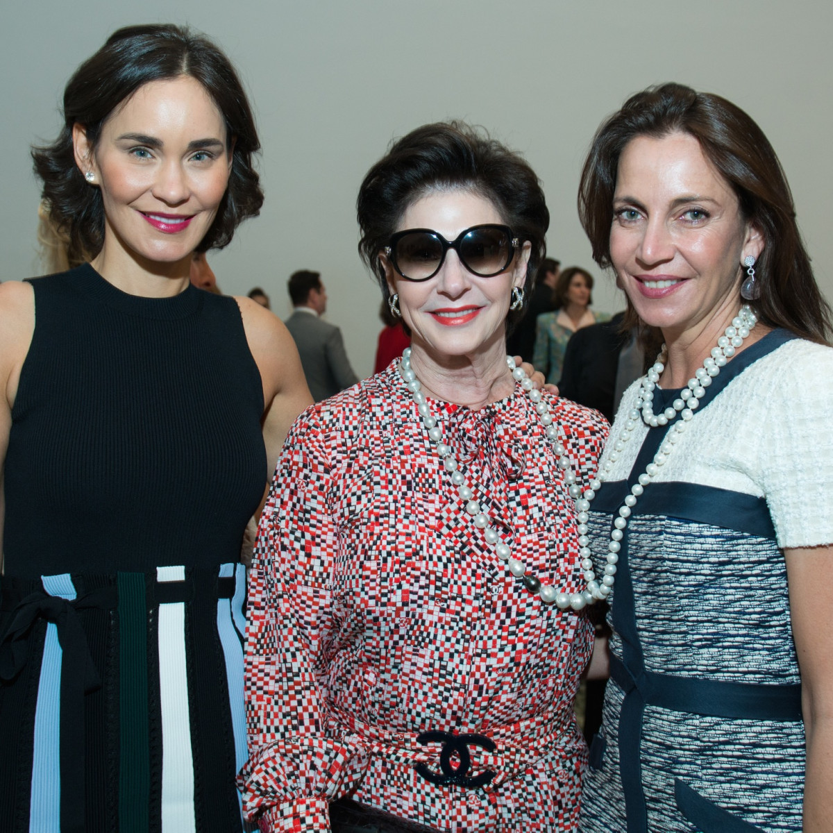 Laura Arnold, Elyse Lanier, Aliyya Stude at Oscar de la Renta fashion show at MFAH