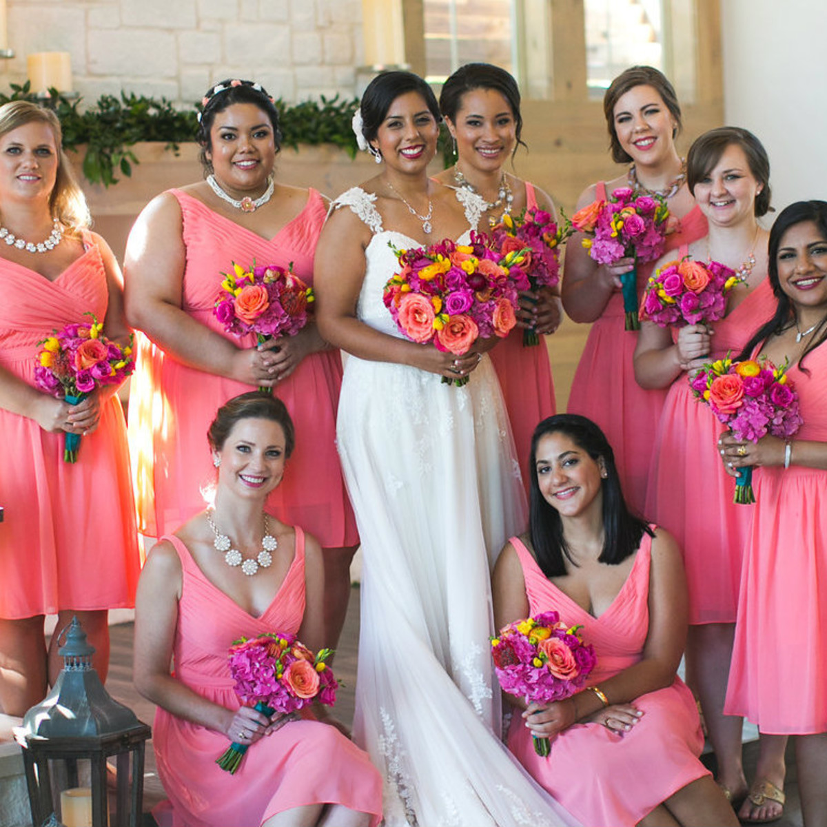 Siddiqui wedding, bridesmaids, Real Weddings 2017