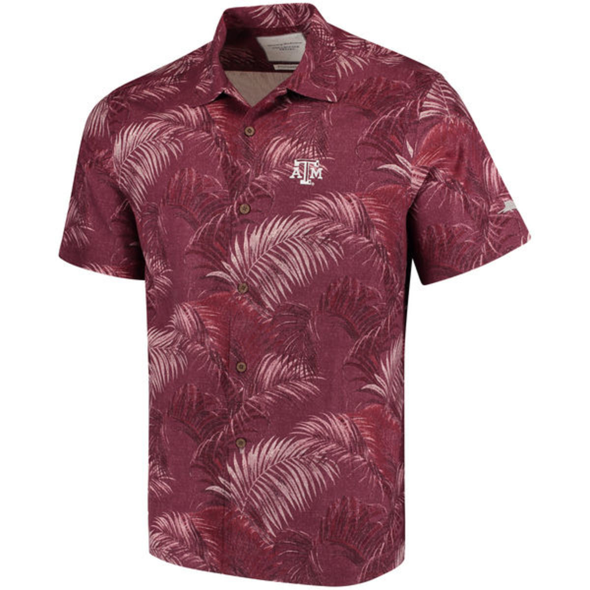 Tommy Bahama Collegiate Series Fez Fronds Camp Shirt Texas A&M