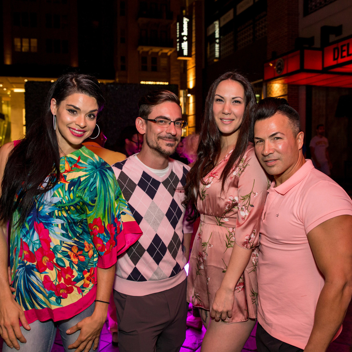 Houston, Marcy, West Ave Pink Party, October 2017, Shana Hand, Kaleb Duhon, Crys Williams, Randall Valentino Gonzalez