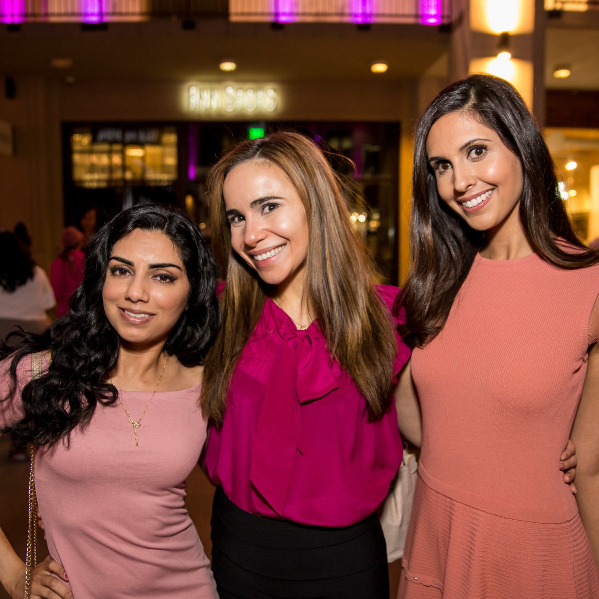 Houston, Marcy, West Ave Pink Party, October 2017, Sophia Baloch, Allison Martir, Anjali Mukhi