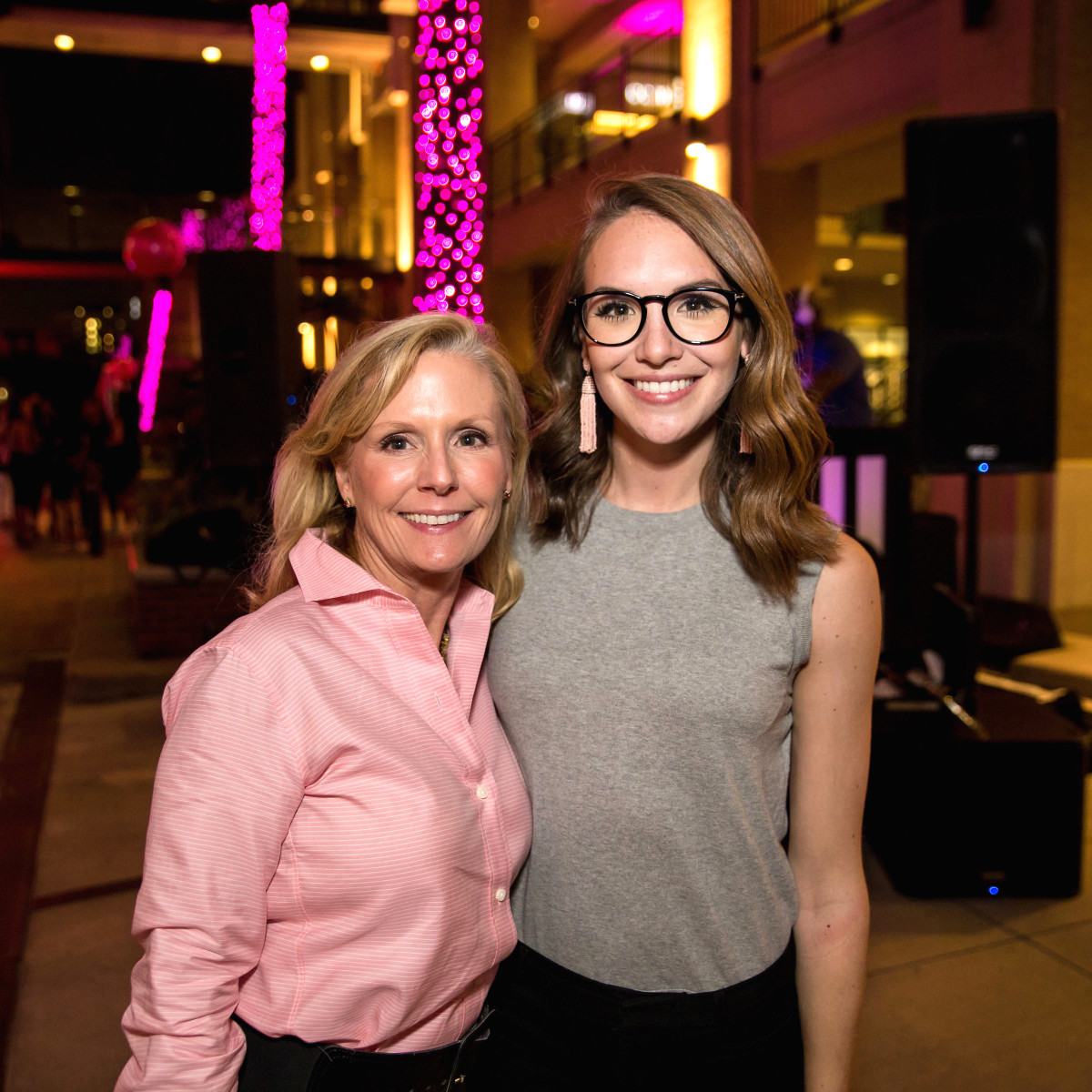 Houston, Marcy, West Ave Pink Party, October 2017, Audrey Gow, Lauren Gow