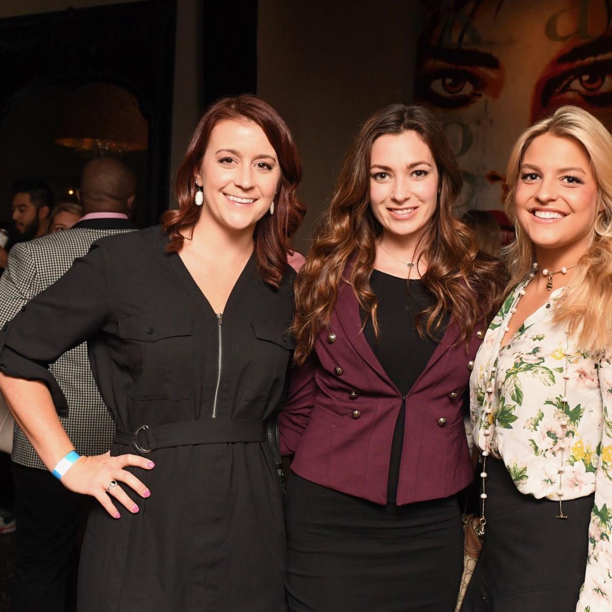 Samantha Hansen, Samantha Simpson, Caron Brown at YHHCC Fall Mixer