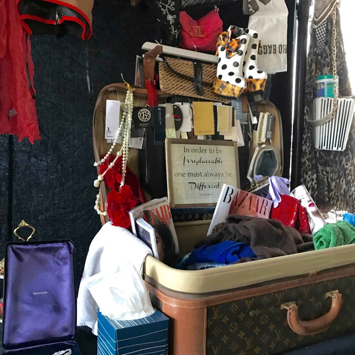 Gayla Bentley fashion funeral recovered possessions from Hurricane Harvey