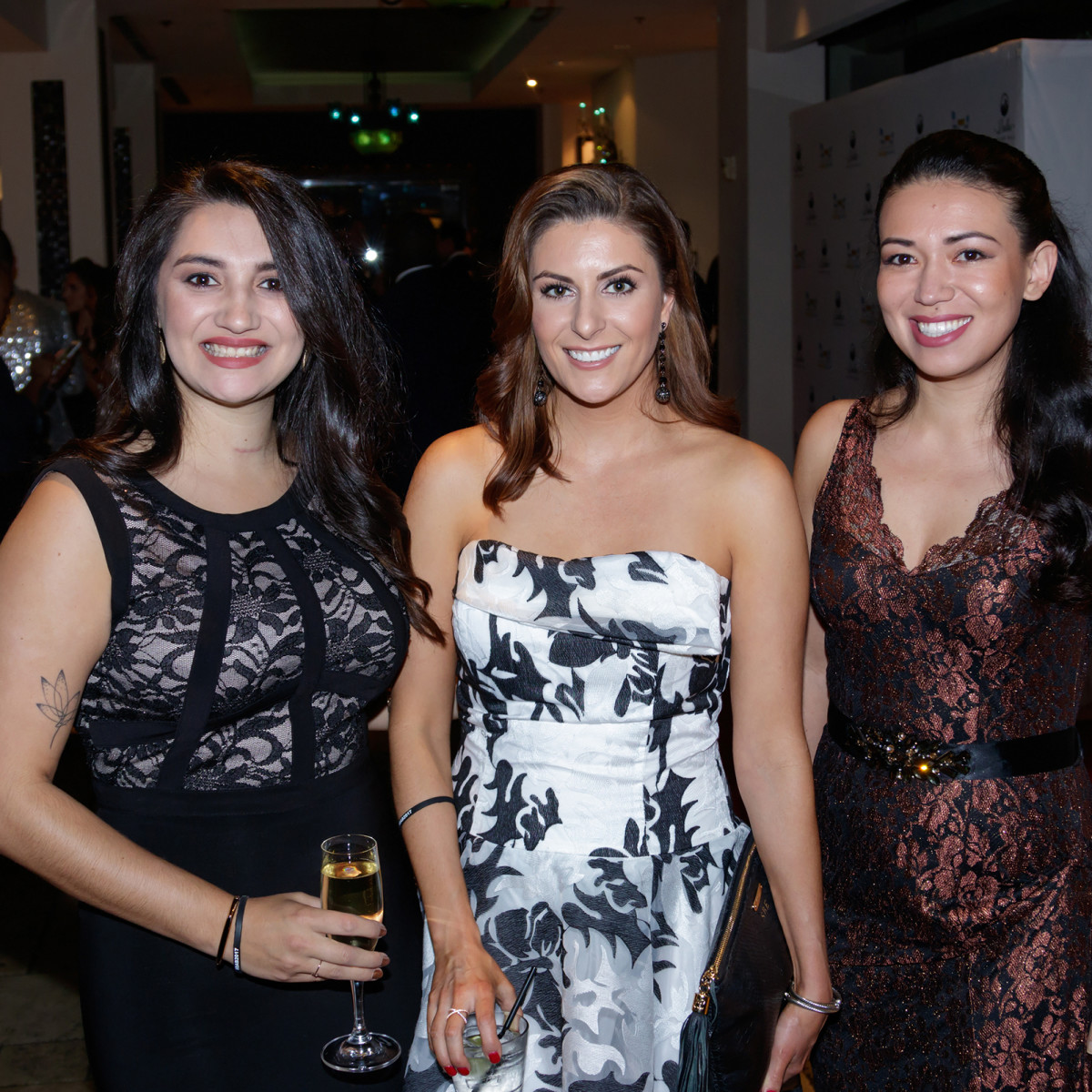 Tina Garcia, Sarah Hampton, Alice Nolen, Autumn Ball 2017