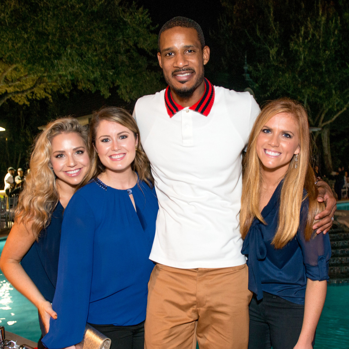 Houston, True Blue Gala, November 2017, Bria Wall, Kelsey Merrick, Trevor Ariza, and Amber Hartland
