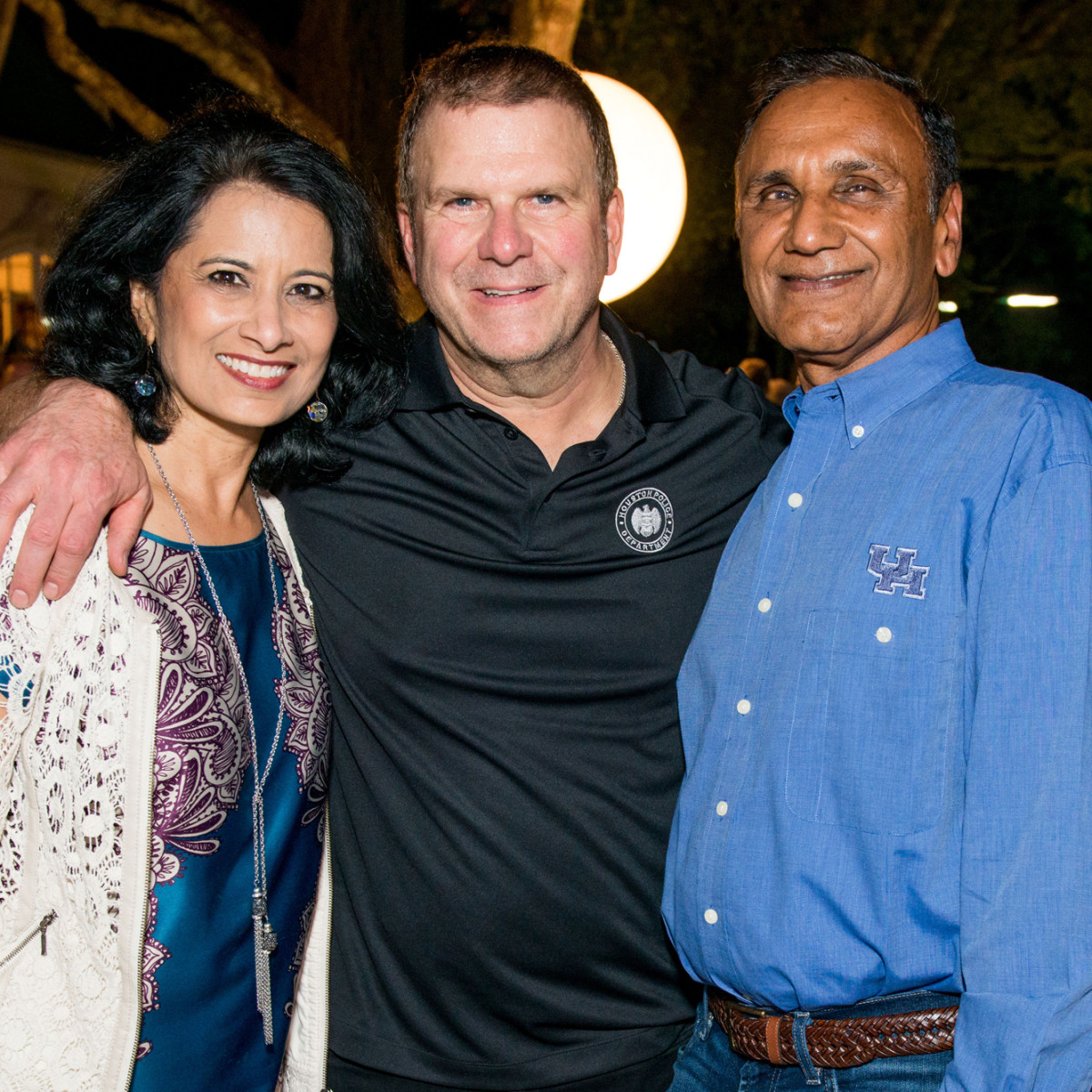Houston, True Blue Gala, November 2017, Renu Khator, Tilman Fertitta, Suresh Khator