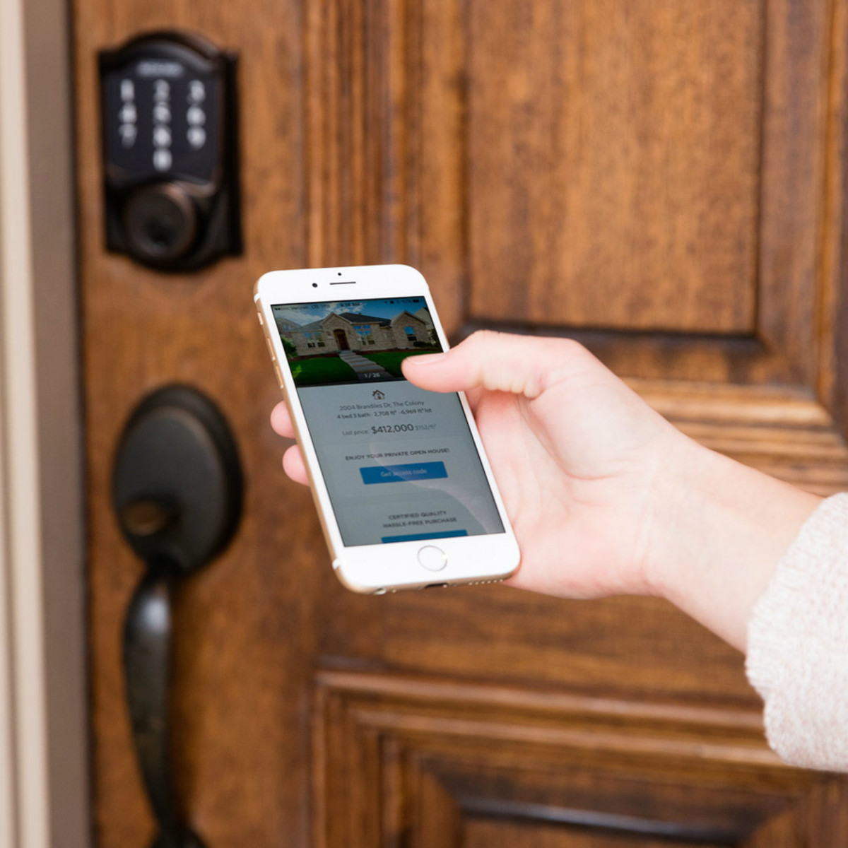 Opendoor app unlocking door