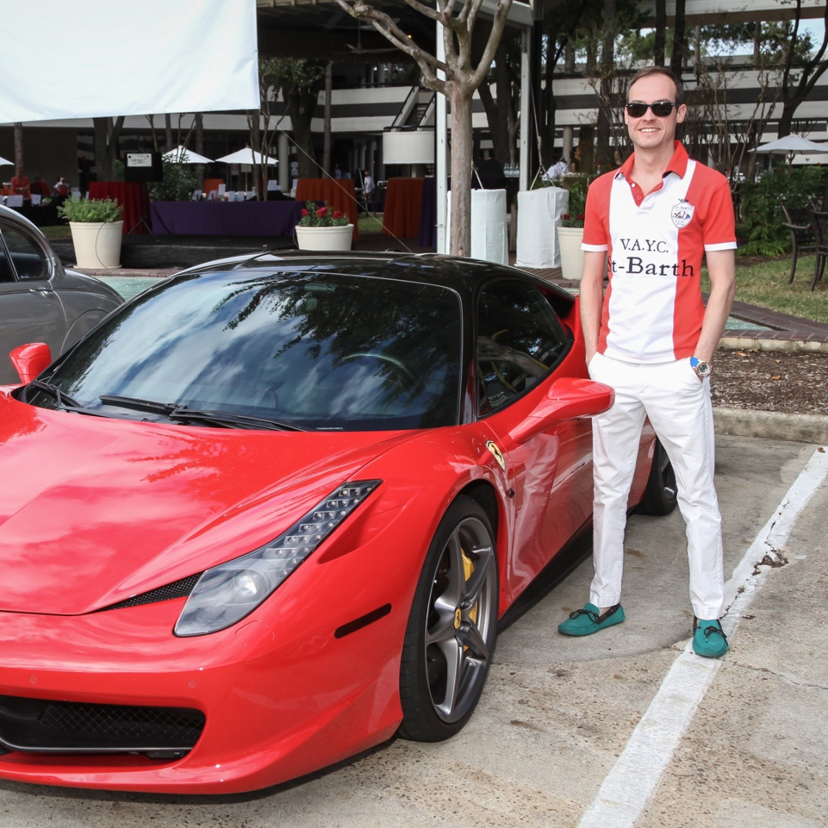 Kevin Sustald with classic car at Risotto Festival