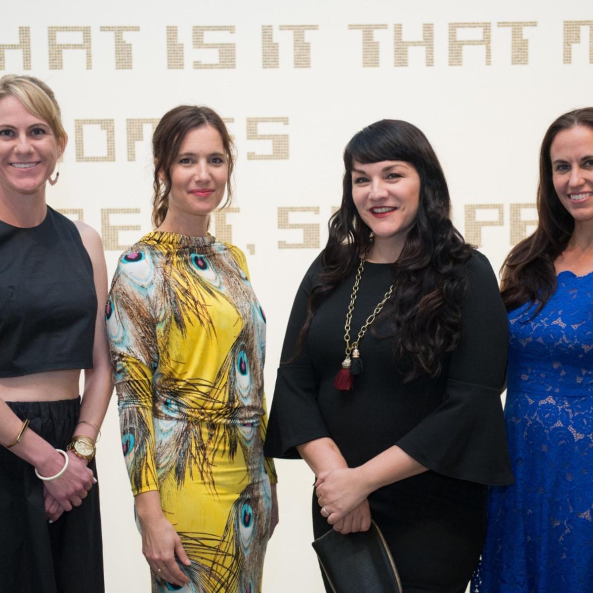 Houston, MFAH HOME Opening Dinner, November 2017, Margot Williams, Megan Scarborough, Pilar Tompkins Rivas, Susan Potter
