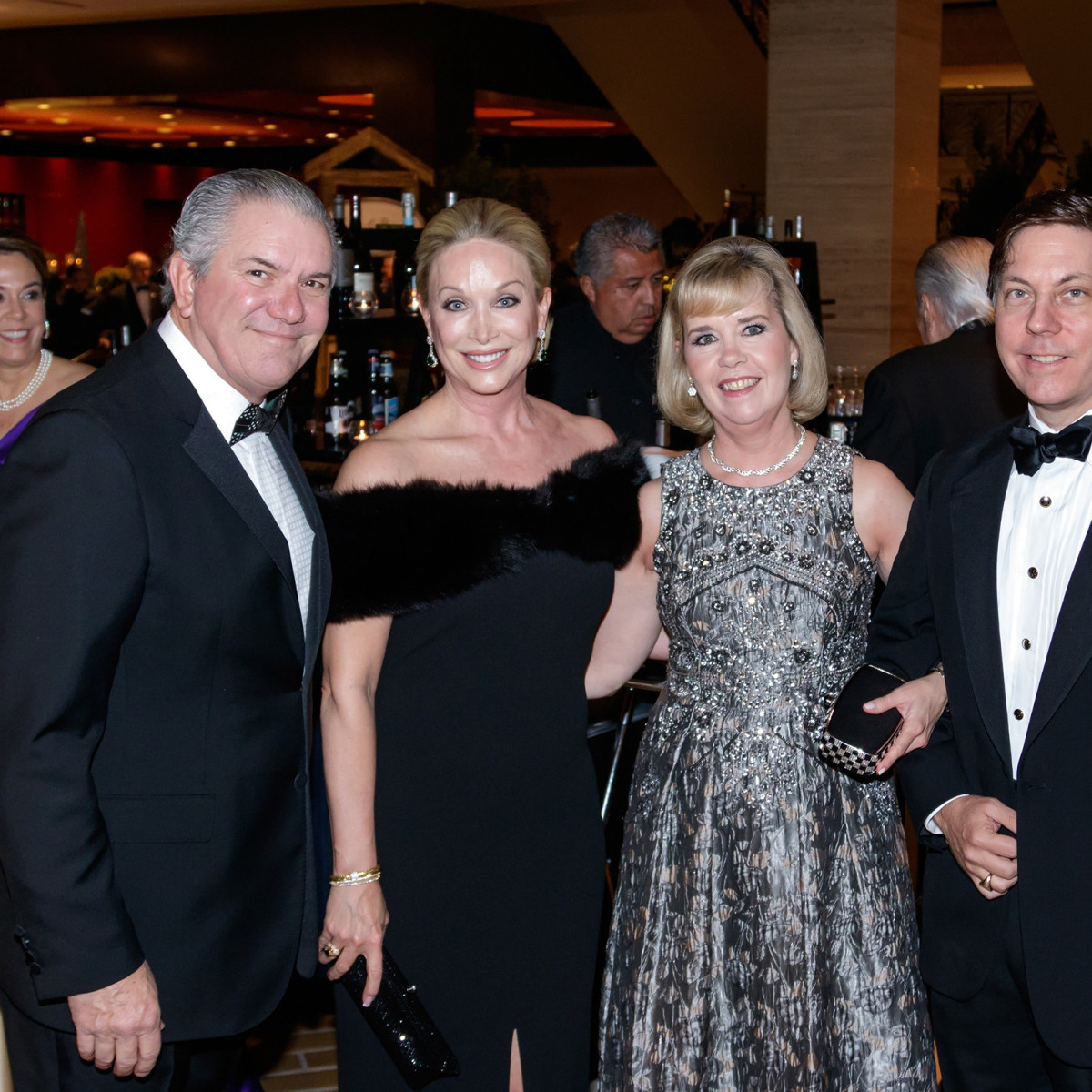 Greg Hext, Kim Hext, Christie Carter, Hudson Weichsel, Crystal Charity Ball 2017