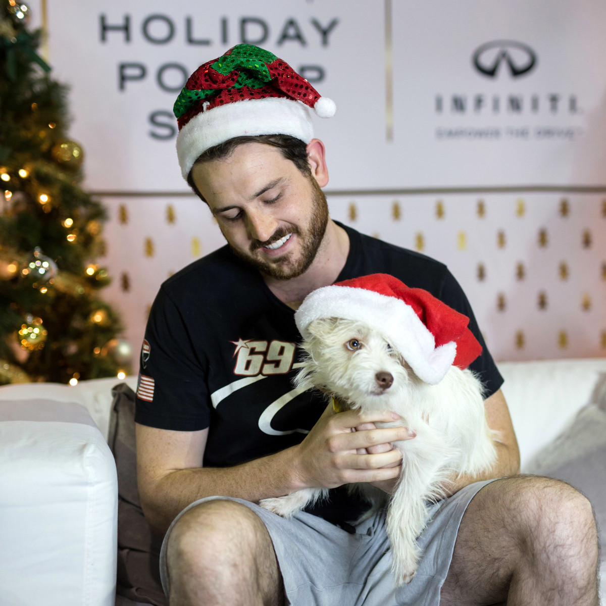 Houston, CultureMap Holiday Pop-Up Shop, November 2017, Patrick Mash, Oliver the dog
