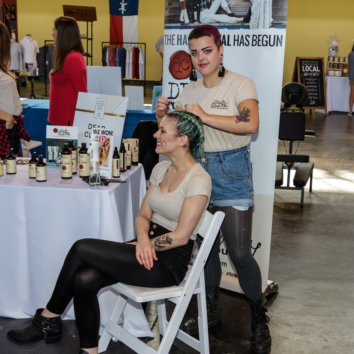 Braid Bar, CultureMap Dallas Holiday Pop-up Shop 2017