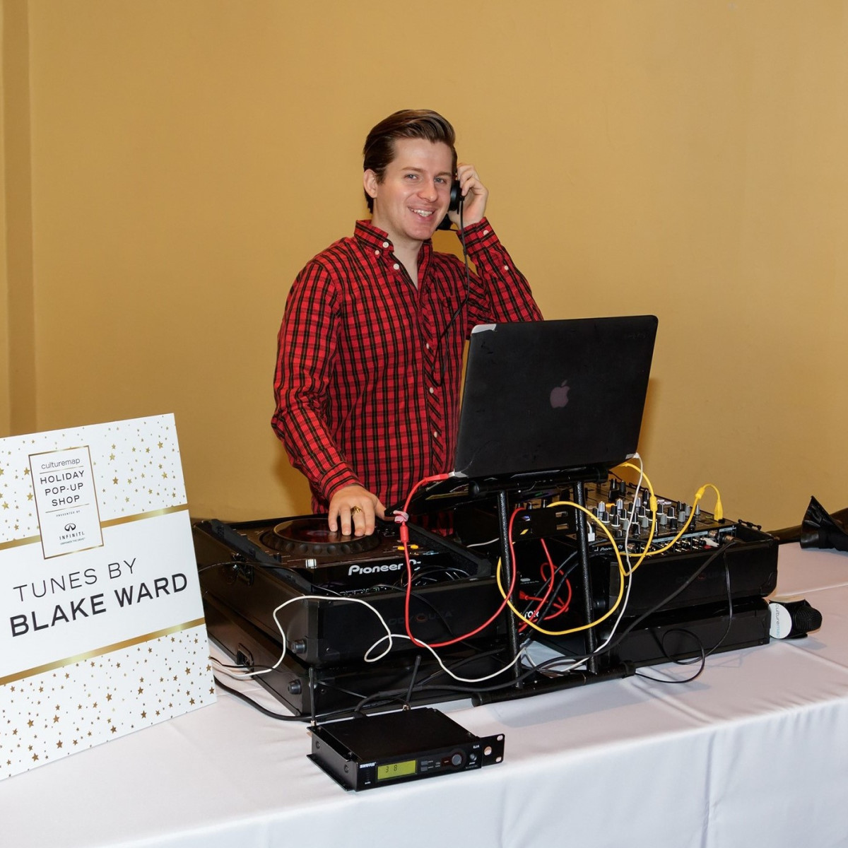 DJ Blake Ward, CultureMap 2017 Holiday Pop-up