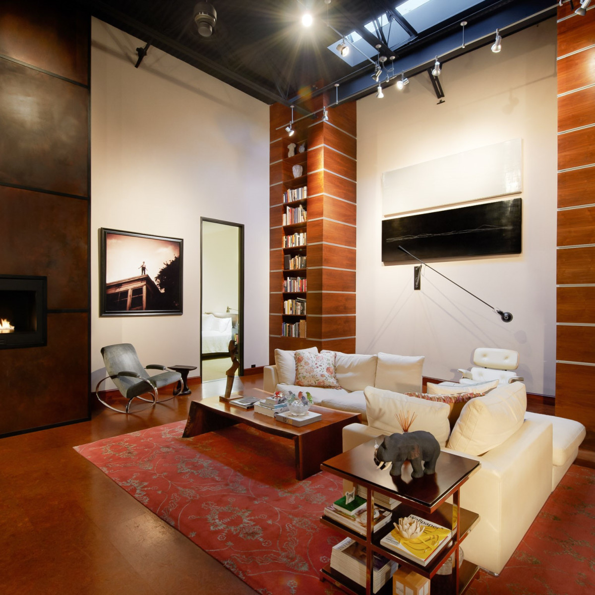 2278 Monitor Street, Dallas Design District warehouse, living room