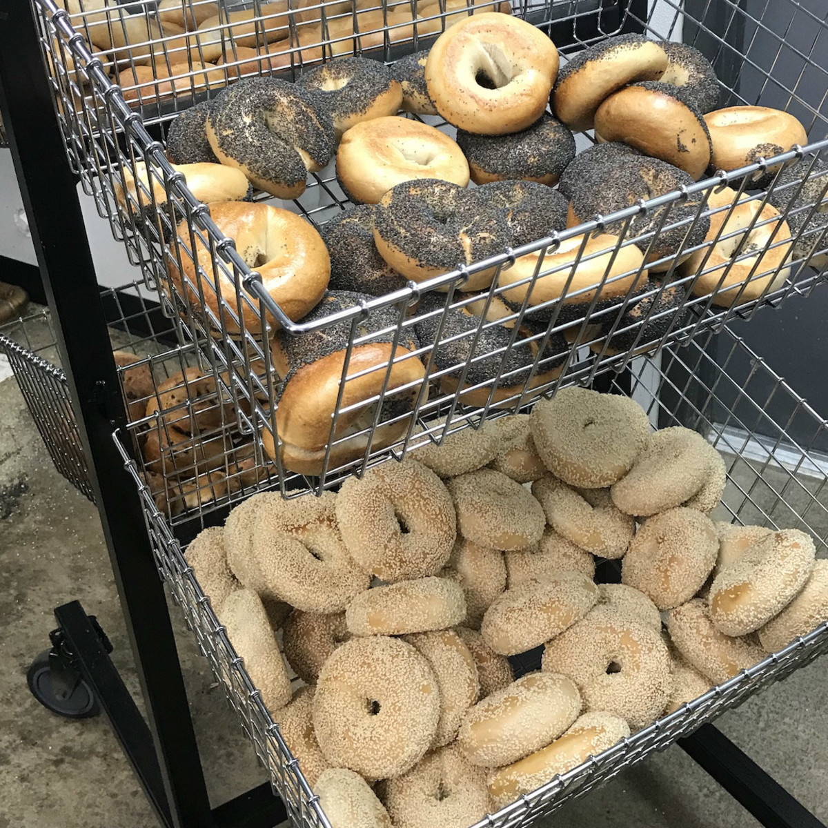 Golden Bagels & Coffee bagel basket