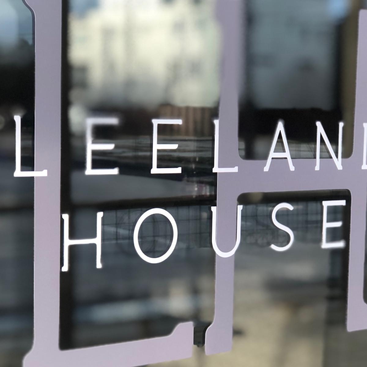 Leeland House sign
