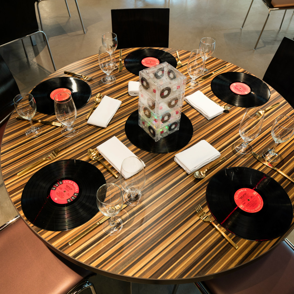 The Reverbery set table