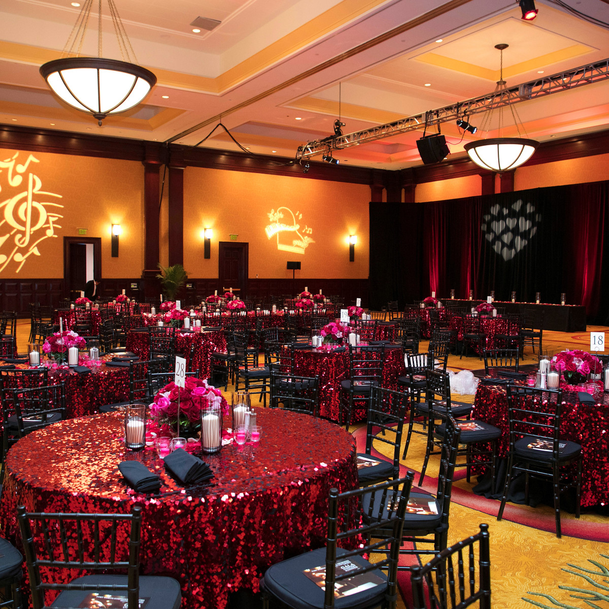 Renaissance Hotel ballroom, FW Symphony Gala 2018