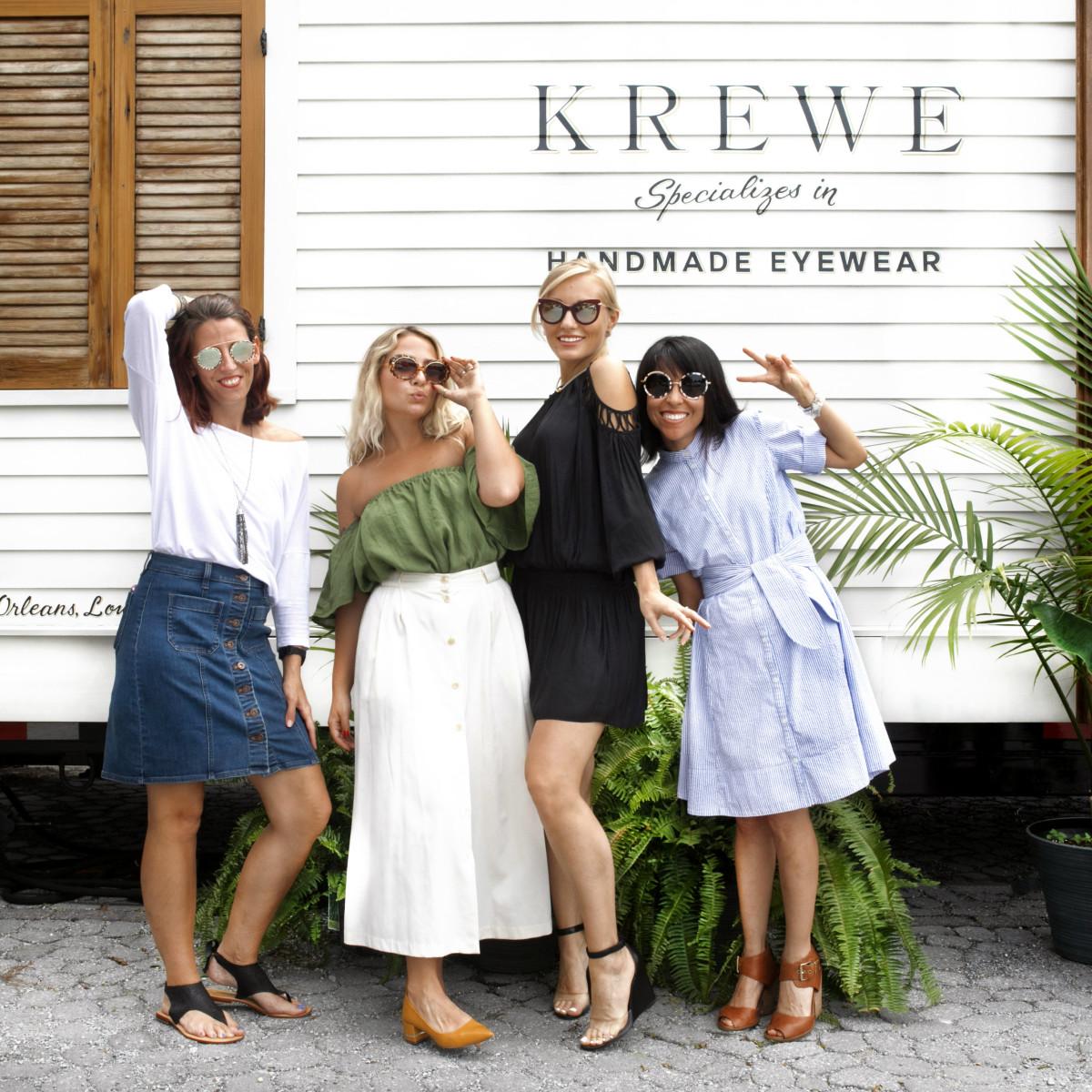 Krewe eyewear models in sunglasses