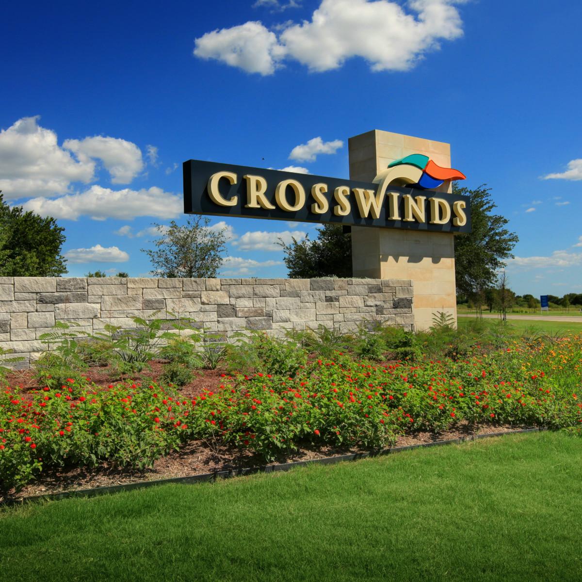 Crosswinds sign