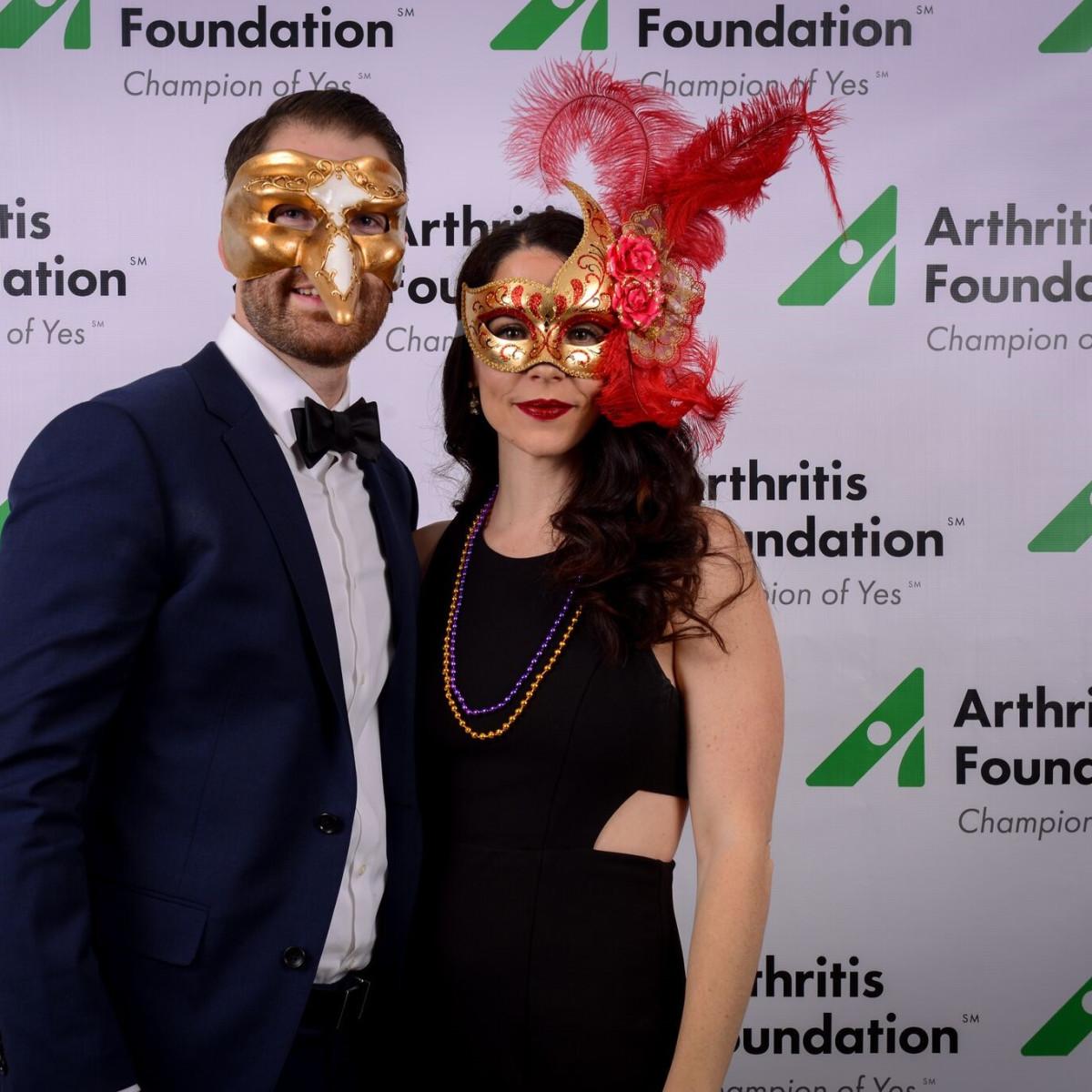 Ryan Fletcher, Brittany Fletcher, Arthritis Foundation Mardi Gras Ball