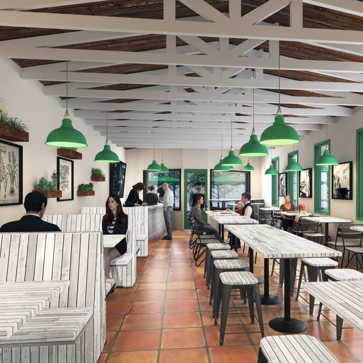 Pizza Motus interior rendering