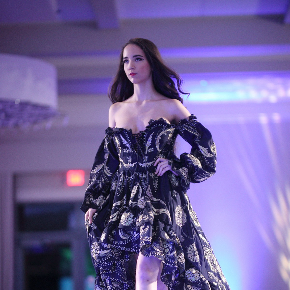 Runway model fashion show by The Webster