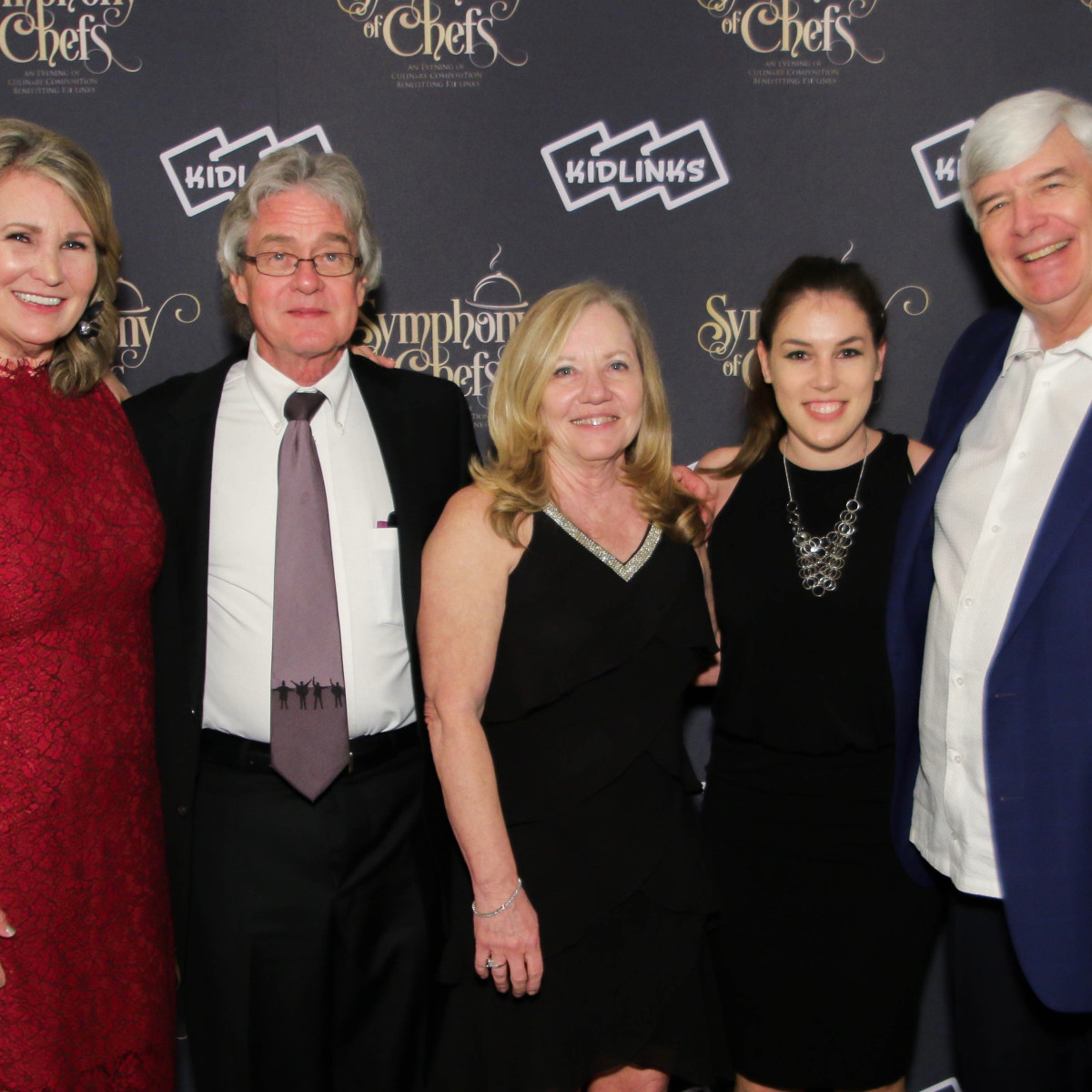 Diana Crawford, Paul G. Hill, Ginny Denmark, Maddie Benner, Jim Newton, Symphony of Chefs 2018