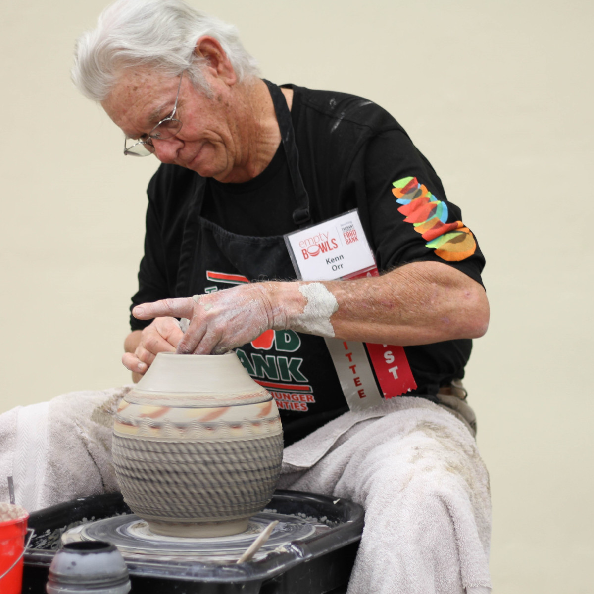 Artist Kenn Orr, Fort Worth Empty Bowls 2018