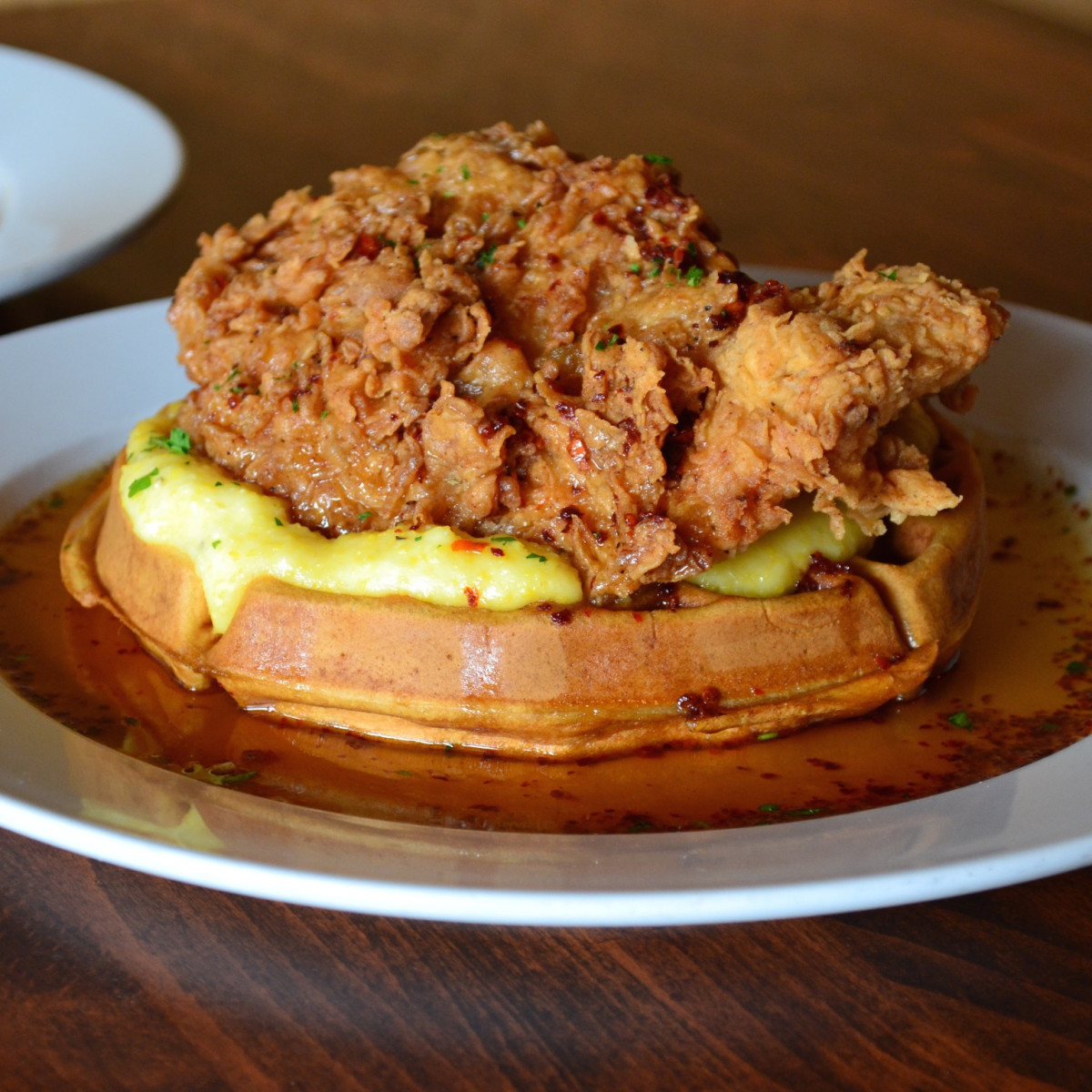 Jonathan's the Rub chicken and waffles