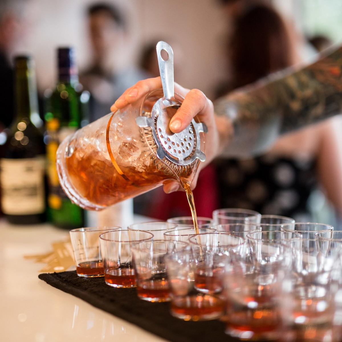 Straining cocktail Tastemaker Awards